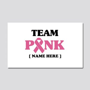 Pink Ribbon Awareness Team Car Magnet 20 x 12