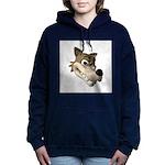 wolf smiling copy Hooded Sweatshirt