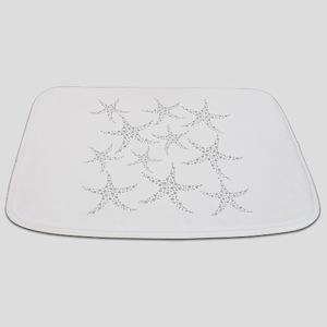 Dotty Gray Starfish. Bathmat
