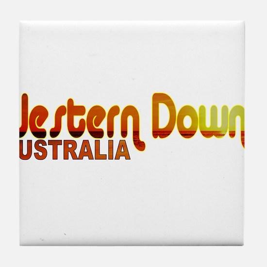 Western Downs, Australia Tile Coaster