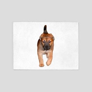 German Shepherd puppy 5'x7'Area Rug