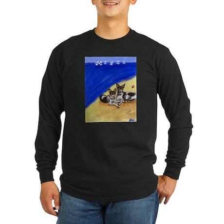 RAT TERRIER beach Design Long Sleeve T-Shirt