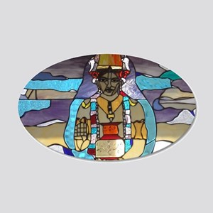 Dhanvantari Stained Glass Pa 20x12 Oval Wall Decal