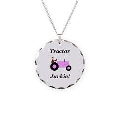 Pink Tractor Junkie Necklace