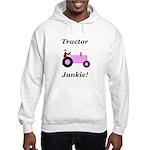 Pink Tractor Junkie Hooded Sweatshirt
