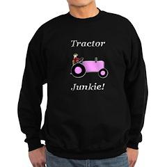 Pink Tractor Junkie Sweatshirt (dark)