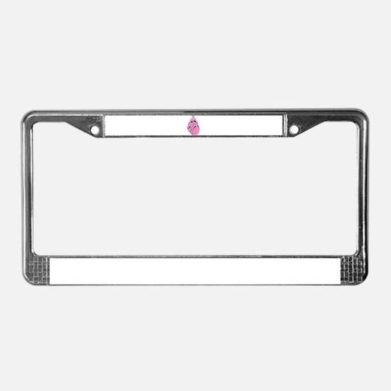 PINK SEASHELL License Plate Frame
