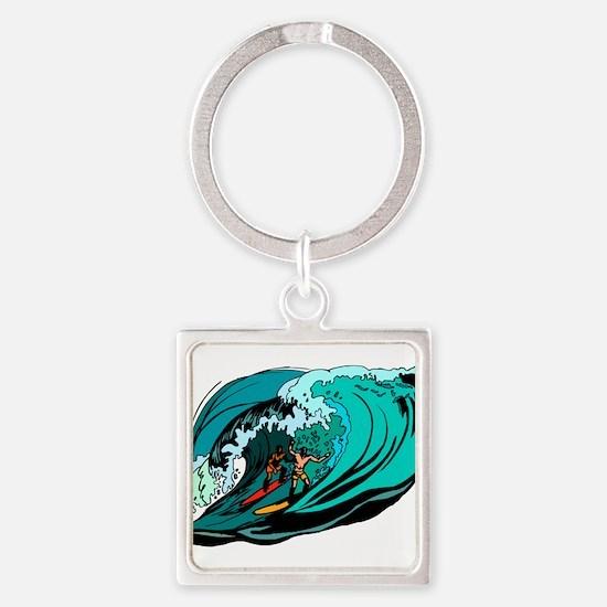 SURFIN' Square Keychain