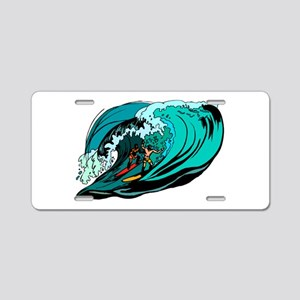 SURFIN' Aluminum License Plate