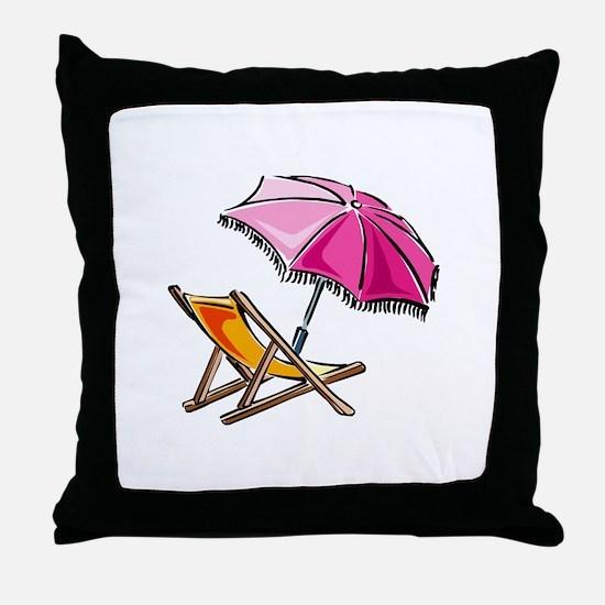 BEACH CHAIR [3] Throw Pillow