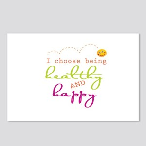 I choose being healthy AND happy Postcards (Packag