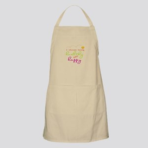 I choose being healthy AND happy Apron