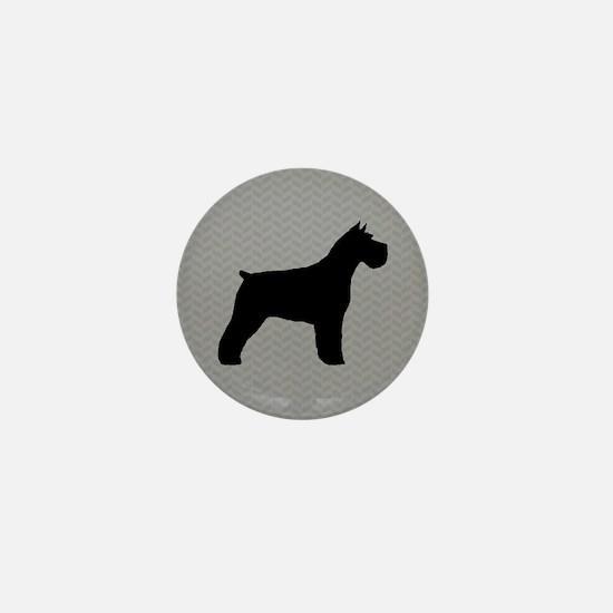 Schnauzer Silhouette Mini Button