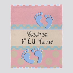 Retired NICU Nurse Throw Blanket