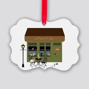 4 Paws Cafe Banner Ornament
