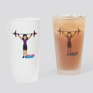 Weight Lifter Medium Drinking Glass