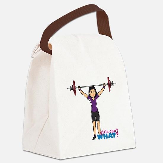 Weight Lifter Medium Canvas Lunch Bag