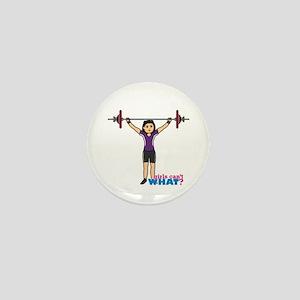 Weight Lifter Medium Mini Button