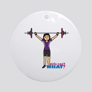 Weight Lifter Medium Ornament (Round)