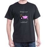 Pink Tractor Addict Dark T-Shirt