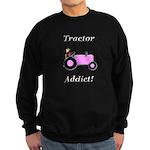 Pink Tractor Addict Sweatshirt (dark)