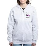 Pink Tractor Addict Women's Zip Hoodie