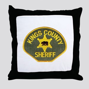 Kings County Sheriff Throw Pillow