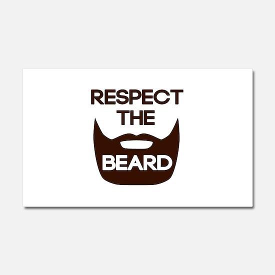 Respect The Beard Car Magnet 20 x 12