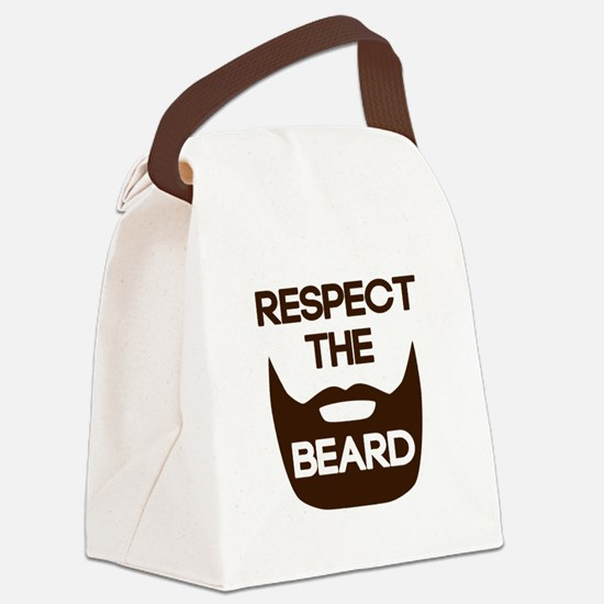 Respect The Beard Canvas Lunch Bag