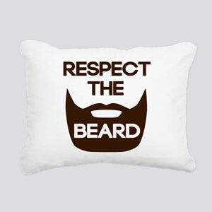 Respect The Beard Rectangular Canvas Pillow