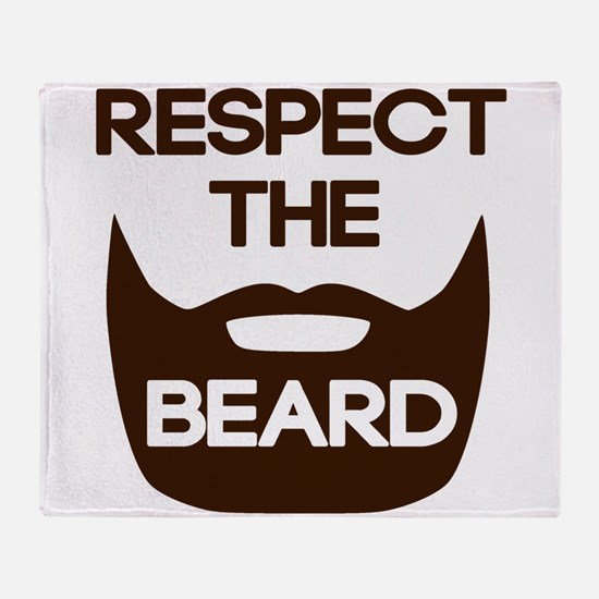 Respect The Beard Throw Blanket