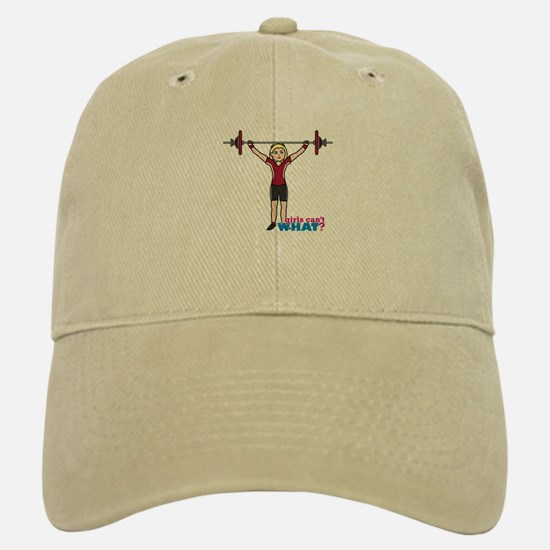 Weight Lifter Light/Red Baseball Baseball Cap