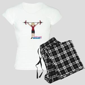 Weight Lifter Light/Red Women's Light Pajamas