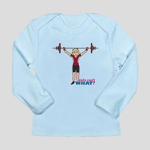 Weight Lifter Light/Red Long Sleeve Infant T-Shirt