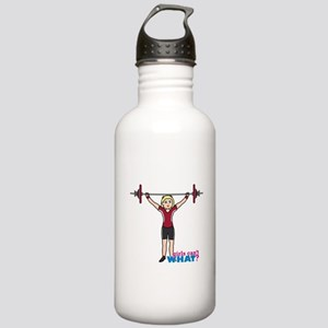Weight Lifter Light/Red Stainless Water Bottle 1.0