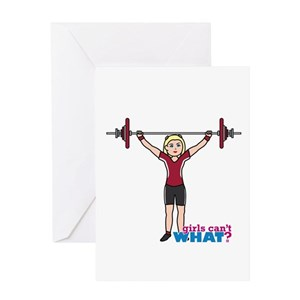 Weight lifting greeting cards cafepress m4hsunfo