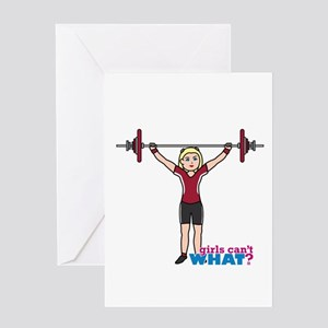 Weight lifting greeting cards cafepress weight lifter lightred greeting card m4hsunfo