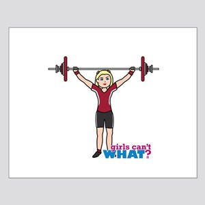 Weight Lifter Light/Red Small Poster