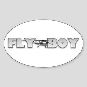 Fly Boy Aviation Oval Sticker