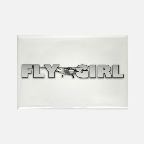 Fly Girl Aviation Rectangle Magnet