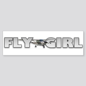 Fly Girl Aviation Bumper Sticker