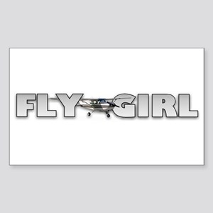 Fly Girl Aviation Rectangle Sticker