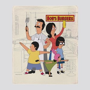 Bobs Burger Hero Family Throw Blanket