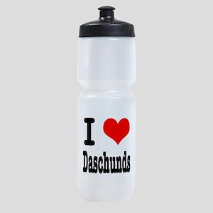 daschunds Sports Bottle
