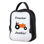 Orange Tractor Junkie Neoprene Lunch Bag