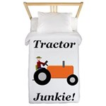 Orange Tractor Junkie Twin Duvet