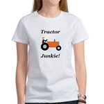 Orange Tractor Junkie Women's T-Shirt