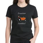 Orange Tractor Junkie Women's Dark T-Shirt