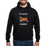 Orange Tractor Junkie Hoodie (dark)