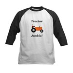 Orange Tractor Junkie Kids Baseball Jersey